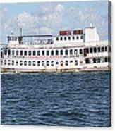 Casino Boat Coming Into Port Canvas Print