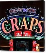 Casino Time Canvas Print
