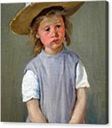 Cassatt's Child In A Straw Hat Canvas Print
