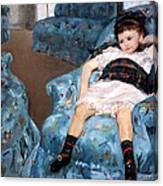 Cassatt's Little Girl In A Blue Armchair Canvas Print