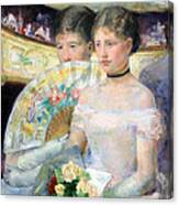 Cassatt's The Loge Canvas Print