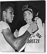 Cassius Clay And Johansson Canvas Print