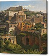 Castel Sant'elmo From Chiaia. Naples Canvas Print