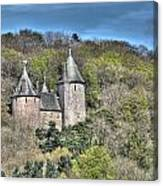 Castell Coch Cardiff Painterly Canvas Print