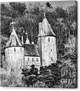 Castell Coch Mono Canvas Print