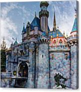 Castle And Clouds Canvas Print
