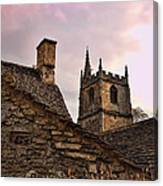 Sunset At Castle Comb Church - Wilshire England Canvas Print