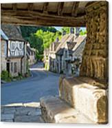 Castle Combe - View Canvas Print