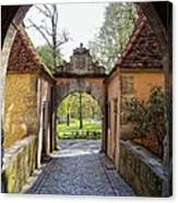 Castle Gate Rothenburg Ob Der Tauber Canvas Print