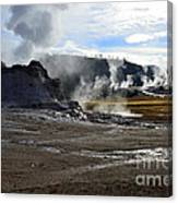 Castle Geyser In Yellowstone National Park Canvas Print