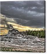 Castle Geyser - Yellowstone Canvas Print