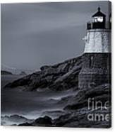 Castle Hill Lighthouse Bw Canvas Print