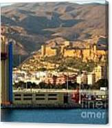 Castle In Almeria Spain Canvas Print