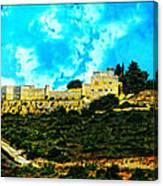 Castle In The Hot Summer Sun Canvas Print