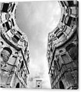 Castle Keyhole In Black And White Canvas Print