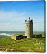 Castle On The Coast Of Ireland Canvas Print
