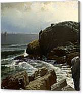 Castle Rock At Marblehead Canvas Print