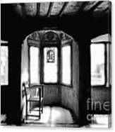 Castle Room With Chair Bw Canvas Print