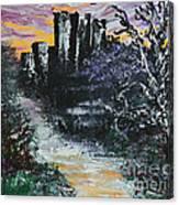 Castle Ruins At Dawn Canvas Print