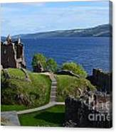 Castle Ruins On Loch Ness Canvas Print