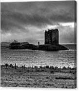 Castle Stalker Bw Canvas Print
