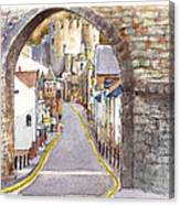 Castle Street Conwy North Wales Canvas Print