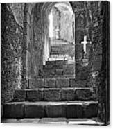 Castle Subterranean Staircase Canvas Print