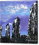 Castlenalact Standing Stones Canvas Print