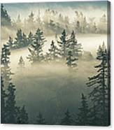 Castles In The Fog Canvas Print