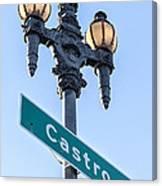 Castro Lightpole Canvas Print