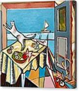 Cat And Sailboat Canvas Print