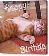 Cat Birthday Card Canvas Print