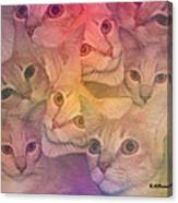 Cat Collage Canvas Print