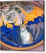 Cat In Doorway Fantasy Canvas Print