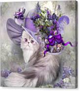 Cat In Easter Lilac Hat Canvas Print