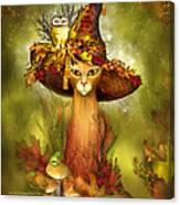 Cat In Fancy Witch Hat 3 Canvas Print