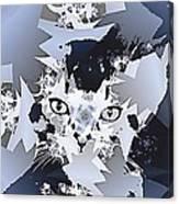 Cat In Fractaldesign Canvas Print
