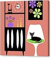 Cat In Pink Room Canvas Print