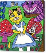 Cat In Wonderland Canvas Print
