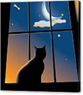 Cat On The Window Canvas Print