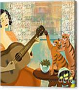 Cat Play Canvas Print