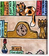 Cat Shelves Canvas Print