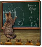Cat Teacher And His Pupils... :) Canvas Print