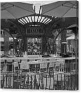 Catal Outdoor Cafe Downtown Disneyland Bw Canvas Print