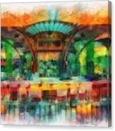 Catal Outdoor Cafe Downtown Disneyland Photo Art 01 Canvas Print