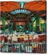 Catal Outdoor Cafe Downtown Disneyland Photo Art 03 Canvas Print