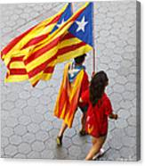 Catalan National Day 2014 Canvas Print