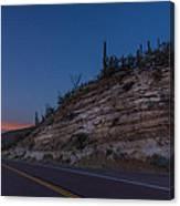 Catalina Highway Twilight Canvas Print