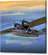 Catalina Over Islands Canvas Print
