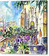Catalonia Day In Llansa Canvas Print
